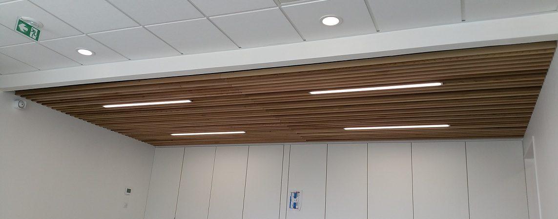 plafond mixte bois plaque de pl tre plaquistes 44. Black Bedroom Furniture Sets. Home Design Ideas